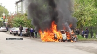 Сгорел автомобиль DAEWOO Nexia в Шадринске