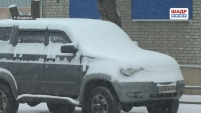 В Шадринске «разгребают» последствия снегопада