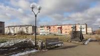 Работы по благоустройству парка по улице Автомобилистов в Шадринске