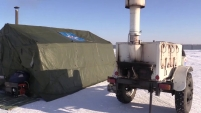 Сотрудники МЧС развернули мобильные пункты обогрева на автомобильных трассах