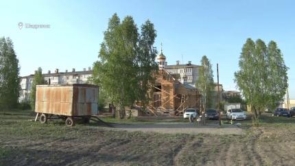 Строительство храма в пос. Северный в Шадринске