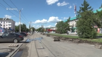 Ремонт ул.Комсомольской в Шадринске