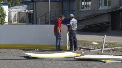 Реконструкция хоккейного корта на стадионе «Торпедо»